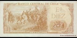 Chili - p143b - 10 Escudos - ND (1967 - 1975) - Banco Central de Chile