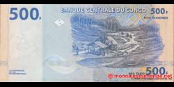 Congo - RD - p096 - 500 francs - 04.01.2002 - Banque Centrale du Congo
