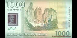 Chili - p161a - 1.000 Pesos - 2010 - Banco Central de Chile