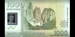 Chili - p161c - 1.000 Pesos - 2012 - Banco Central de Chile