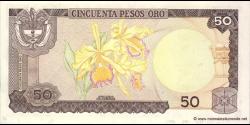 Colombie - p422a - 50 Pesos oro - 01.01.1980 - Banco de la República