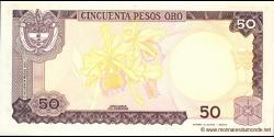 Colombie - p425b - 50 Pesos oro - 01.01.1986 - Banco de la República
