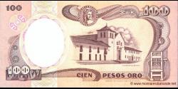 Colombie - p426A - 100 Pesos oro - 07.08.1991 - Banco de la República