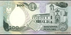 Colombie - p429A - 200 Pesos oro - 10.08.1992 - Banco de la República