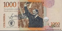 Colombie - p456n - 1.000 Pesos - 18.08.2009 - Banco de la República