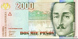 Billet de Colombie - Pick 457e - 2000 pesos - 2006