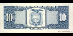 Equateur - p109 - 10 Sucres - 14.03.1975 - Banco Central del Ecuador