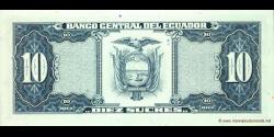 Equateur - p121f - 10 Sucres - 22.11.1988 - Banco Central del Ecuador
