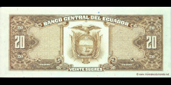 Equateur - p121Ad - 20 Sucres - 22.11.1988 - Banco Central del Ecuador