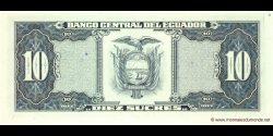 Equateur - p121g - 10 Sucres - 22.11.1988 - Banco Central del Ecuador