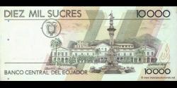 Equateur - p127c - 10.000 Sucres - 14.12.1998 - Banco Central del Ecuador