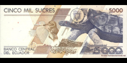 Equateur - p128b - 5.000 Sucres - 31.01.1995 - Banco Central del Ecuador