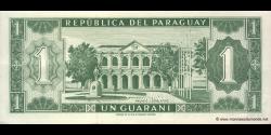 Paraguay - p193a1 - 1 Guarani - L. 25.03.1952 (1963) - Banco Central Del Paraguay