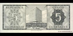 Paraguay - p195b - 5 Guaranies - L. 25.03.1952 (1963) - Banco Central Del Paraguay