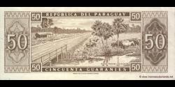 Paraguay - p197b - 50 Guaranies - L. 25.03.1952 (1963) - Banco Central Del Paraguay