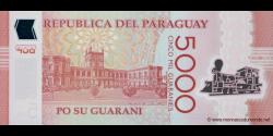 Paraguay - 234a - 5.000 Guaranies - 2011 - Banco Central Del Paraguay