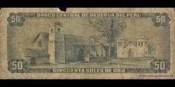 Pérou - p101c - 50 Soles de oro - 16.05.1974 - Banco Central de Reserva del Perú