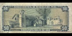 Pérou - p107 - 50 Soles de oro - 02.10.1975 - Banco Central de Reserva del Perú