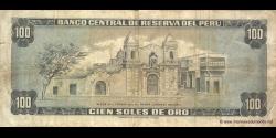 Pérou - p108 - 100 Soles de oro - 02.10.1975 - Banco Central de Reserva del Perú