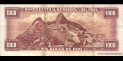 Pérou - p111 - 1.000 Soles de oro - 02.10.1975 - Banco Central de Reserva del Perú