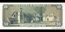 Pérou - p113 - 50 Soles de oro - 15.12.1977 - Banco Central de Reserva del Perú