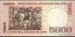 Pérou - p117c - 5.000 Soles de oro - 21.06.1985 - Banco Central de Reserva del Perú