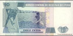 Pérou - p129 - 10 Intis - 26.06.1987 - Banco Central de Reserva del Perú