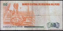 Pérou - p130 - 50 Intis - 03.04.1985 - Banco Central de Reserva del Perú