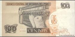 Pérou - p133 - 100 Intis - 26.06.1987 - Banco Central de Reserva del Perú