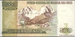 Pérou - p134b - 500 Intis - 26.06.1987 - Banco Central de Reserva del Perú