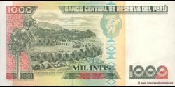 Pérou - p136b - 1.000 Intis - 26.06.1987 - Banco Central de Reserva del Perú