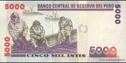 Pérou - p137 - 5.000 Intis - 28.06.1988 - Banco Central de Reserva del Perú