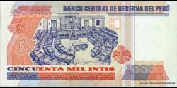 Pérou - p142 - 50.000 Intis - 28.06.1988 - Banco Central de Reserva del Perú