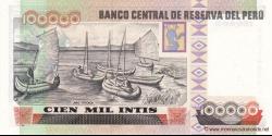 Pérou - p145 - 100.000 Intis - 21.12.1989 - Banco Central de Reserva del Perú