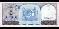 Suriname - p120a - 5 Gulden - 01.09.1963 - Centrale Bank van Suriname