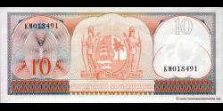 Suriname - p121b - 10 Gulden - 01.09.1963 - Centrale Bank van Suriname
