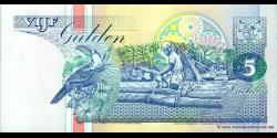 Suriname - p136b2 - 5 Gulden - 12.02.1998 - Centrale Bank van Suriname