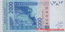 Côte d'Ivoire - p116Ae - 2 000 francs - 2009 - Banque Centrale des États de l'Afrique de l'Ouest