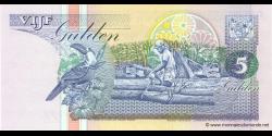 Suriname - p136b1 - 5 Gulden - 01.12.1996 - Centrale Bank van Suriname