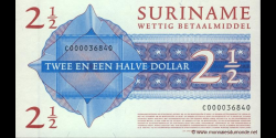 Suriname - p156 - 2½ Dollars - 01.01.2004 - Government