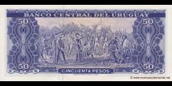 Uruguay - p46a4 - 50 Pesos - ND (1967) - Banco Central del Uruguay