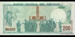 Uruguay - p66 - 200 Nuevos Pesos - 1986 - Banco Central del Uruguay