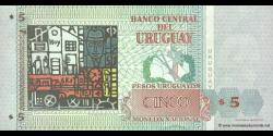 Uruguay - p80 - 5 Pesos Uruguayos - 1998 - Banco Central del Uruguay