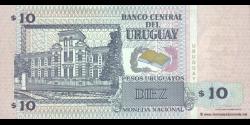 Uruguay - p81 - 10 Pesos Uruguayos - 1998 - Banco Central del Uruguay