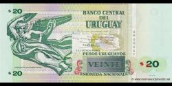 Uruguay - p86b - 20 Pesos Uruguayos - 2011 - Banco Central del Uruguay