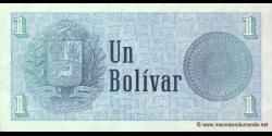 Venezuela - p68 - 1 Bolívar - 05.10.1989 - Banco Central de Venezuela