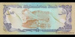 Afghanistan - p56 - 20 Afghanis - SH 1358 (1979) - Da Afghanistan Bank