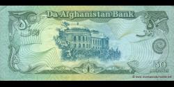 Afghanistan - p57b - 50 Afghanis - SH 1370 (1991) - Da Afghanistan Bank