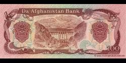 Afghanistan - p58b - 100 Afghanis - SH 1369 (1990) - Da Afghanistan Bank