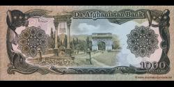 Afghanistan - p61b - 1.000 Afghanis - SH 1369 (1990) - Da Afghanistan Bank